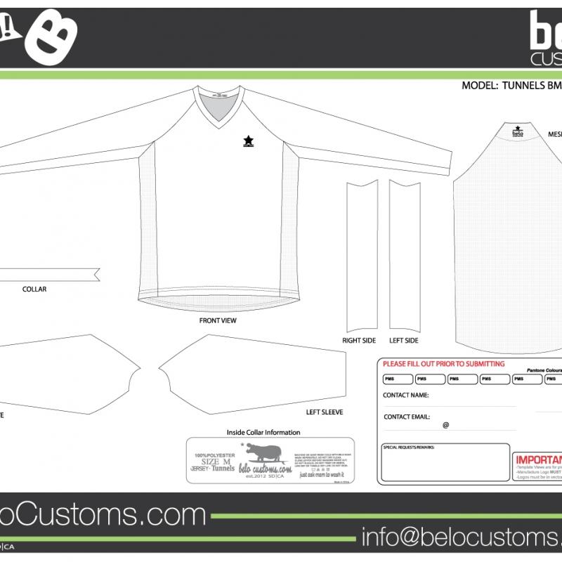 belo customs tunnels bmx jersey. Black Bedroom Furniture Sets. Home Design Ideas